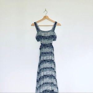 Black and White Pattern Maxi Dress - XS